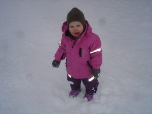 Jeg klarer å gå i snøen!