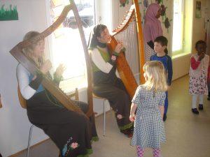 Norsk harpespill på internasjonal fest