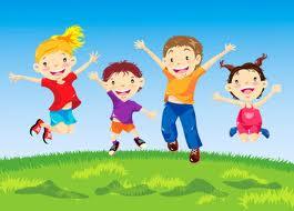barn som er glade
