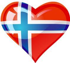 norsk flagg hjerte